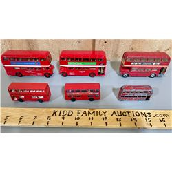LOT OF 6 DOUBLE DECKER BUSES