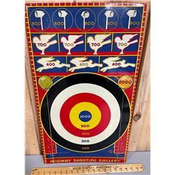MARX MIDWAY SHOOTING GALLERY - VINTAGE TIN GAME