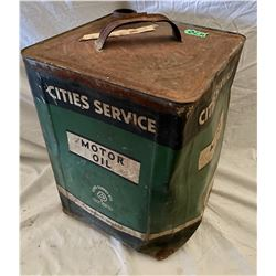 CITIES SERVICE 5 GAL MOTOR OIL CAN