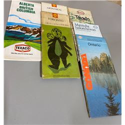 LOT OF MISC CANADIAN MAPS - ESSO / SHELL / TEXACO