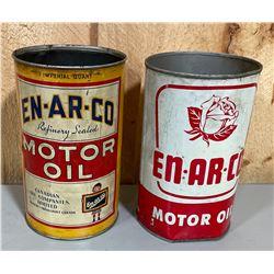 LOT OF 2 EN-AR-CO OIL CANS - 1 QT SIZE