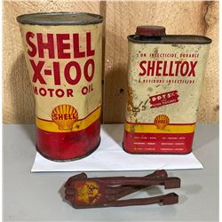 SHELL MOTOR OIL, INSECTICIDE (CONTENTS) & WINDOW MOUNT HOOK