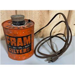 1950's FRAM FILTERS LIGHT DISPLAY