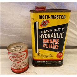 MOTO-MASTER CANS - BRAKE FLUID & LUBE - FULL