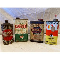 LOT OF 4 COLLECTIBLE TINS - SOME CONTENTS