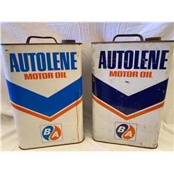 LOT OF 2 BA AUTOLENE 2 GAL CANS