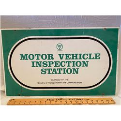 ONTARIO MOTOR VEHICLE INSPECTION STATION DSP SIGN