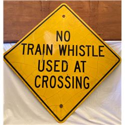 ROAD SIGN - TRAIN CROSSING