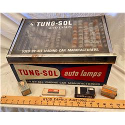 TUNG-SOL AUTO BULB DISPLAY WITH CONTENTS