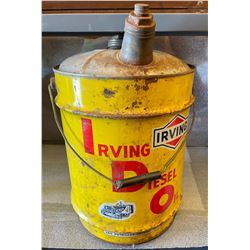 IRVING 5 GAL PAIL WITH SPOUT - DIESEL OIL