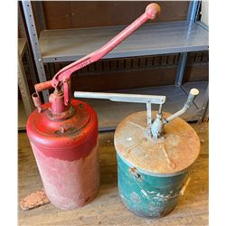 LOT OF 2 GREASE FILLER PUMPS - LINCOLN