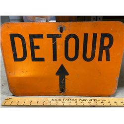 ROAD SIGN - DETOUR