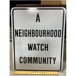ROAD SIGN - NEIGHBOURHOOD WATCH