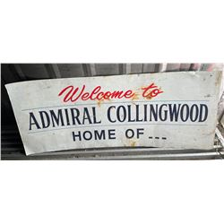 """ADMIRAL COLLINGWOOD SST SIGN - 24"""" X 57"""""""