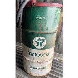 TEXACO OIL DRUM WITH PUMP
