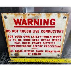 HYDRO WARNING SSP SIGN