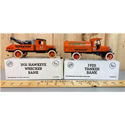LOT OF 2 SUPERTEST DIE-CAST TOYS - WRECKER & TANKER BANK