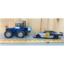 LOT OF 2 DIE-CAST TOY VEHICLES INCLUDING FORD TRACTOR