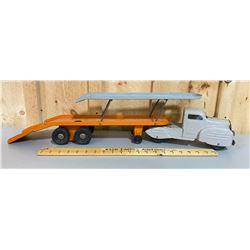 LINCOLN TOYS - LOWNEY'S CAR HAULER WITH LIFT DECK & RAMP