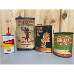 LOT OF 4 COLLECTIBLE TINS