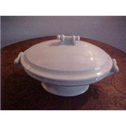 Vegetable dish,w/cover, Ironstone #1251718