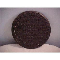 Iron Machine or Boiler Plaque,Boss& Aacme #1251719