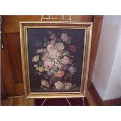 Painting on Board, framed,signed  #1251732