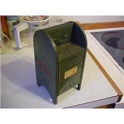 Bank, street outside drop box mail; heavy guage#1251737
