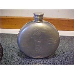 Flask,embossed with golfer,Eng.Pewter #1251746