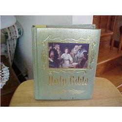 Holy Bible, Leather bound,Pict of Christ on #1251755