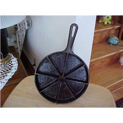 Cast Iron skillet, divided 8 ways,signed Wagner#1251757