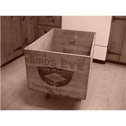 Adv. Wooden box,dovetailed, Bird's eye #1251760