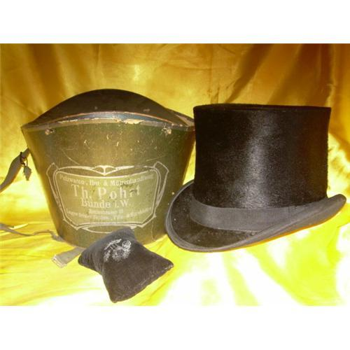 2c0abd4167a Image 1   Antique German Carriage Top Hat Chapeau Claque  1246599