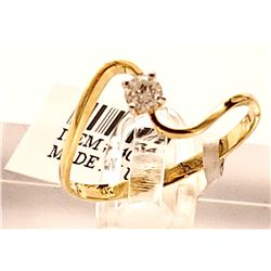 Jewelry - 0.15 Carat 14K Solid Yellow Gold Memory Of Night Diamond Ring