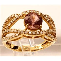 Jewelry - 14k Gold Morganite and Diamond Ring