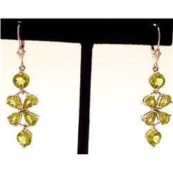 Jewelry - 5.32 Carat 14K Solid White Gold Wharton Peridot Earrings