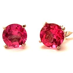 Jewelry - 3.1 Carat 14K Solid White Gold Small Victories Pink Topaz Earrings
