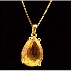 Jewelry - 5 Carat 14K Solid Yellow Gold Only You Citrine Necklace