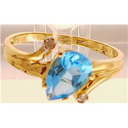 Jewelry - 14k Gold Auqamarine Ring