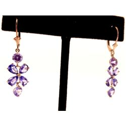 Jewelry - 5.32 Carat 14K Solid White Gold Daylight Again Tanzanite Earrings