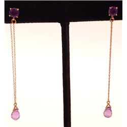 Jewelry - 14k Gold Earring with Amethyst