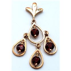 Jewelry - 14K Solid Rose Gold Garnet Certified Series Platinum Necklace