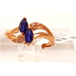 Jewelry - Sapphire and Diamond Ring