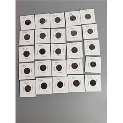 Coins - 25 Indian Head Cents