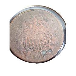 Coins - 1867 2 Cent Piece