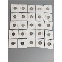 Coins - 25 Barber Dimes