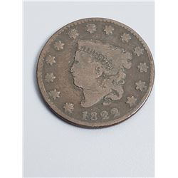 Coins - 1822 Liberty Head Large Cent