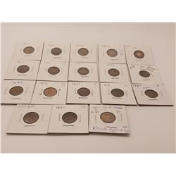 Coins - 18 Indian Head Cents