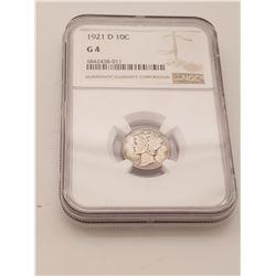 Coins - NGC Mercury 1921 Dime