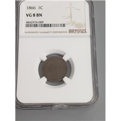 Coins - NGC 1866 1 Cent